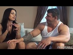 Foxxy is a hot tranny who wants Zeb Atlas's cock in her butt hole. Zeb has never done it with a shemale before, but he makes an exception for Foxxy and drills in.