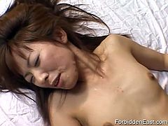 Oriental slut gets cum all over her face in this hot scene from Forbidden East.See how these dude fucks and creams her face and ties her with red ribbons for toying her.