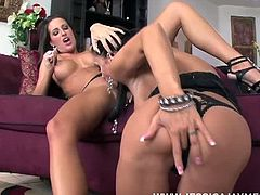 Pornstar at Jessica Jaymes and Kortney Kane are two beautiful brunette pornstars that always look incredibly sexy together on film. It's obvious that Jessica always loves showing Kortney the ropes by taking the lead when ever they interact. And Kortney loves Jessica's dominance and always gets a dripping wet pussy when Jessica works her magical hands and oh so experienced tongue!