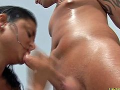 Sunrise Kings brings you very intense free porn video where you can see how these two naughty Latina sluts share a hard cock while assuming sensual positions.