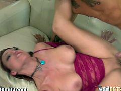 Nicki Hunter is a wild horny mom who are willing to fuck anyone including her daughter Courtney Star's boyfriend and here they got caught by her but instead continued on for the sake of her mom.