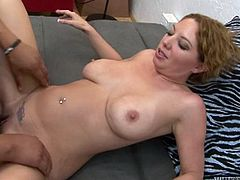 A black guy eats her white pussy, licks her armpits and fucks her