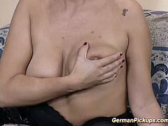 Extreme Movie Pass brings you a hell of a free porn video where you can see how this blonde German milf sucks and gets fucked very hard into a huge orgasm.