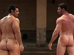 These hot men just wanted to feel each others' bodies, under the pretext of wrestling naked. This is no serious sport, they just get all hard and erect, rubbing their bodies against each other. Of course, the sport can't go on like this. It wasn't long before one of them started to suck the other.