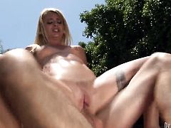 Cameron Canada is a blowjob addict who loves Mark Woods hard sausage after she takes it in her butt