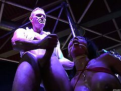 Franceska Jaimes lets Nacho Vidal put his meat pole in her mouth before she gets cornholded