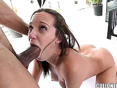 Jada Stevens stripping down to her bare skin