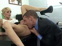 Monique Alexander bawdy cleft licking the the office