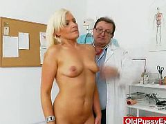Old Pussy Exam brings you a hell of a free porn video where you can see how this hot blonde gets her sweet pink cunt examined while assuming very naughty positions.