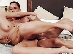 Alan Stafford cant wait any more to shove his pole in breathtakingly hot Candice Dares honeypot