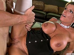A red hot maid gets her brains drilled out by a houseguest