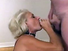 Blonde Mature Gangbang with young men