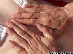 Dani Jensen is a redheaded beauty who seduces the lifeguard into massaging her and then into fucking her tight ass hole, as well as cumming inside her mouth.