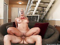 Clover stretches lovely Holly Hearts wet hole with his throbbing boner to the limit