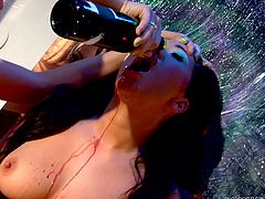 An Asian sexy lesbian and her sensual companion, lusty Nika Noir, are in the spotlight! Their gorgeous tits and asses are the main attraction. Click to see passionate kissing, soft caresses, alternating with wild touches. The atmosphere turns extremely hot. Enjoy the exciting pussy eating scene!