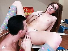 Billy Glide cant resist playful Maddy OReillys acttraction and bangs her like crazy