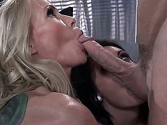 Chase Ryder and Simone Sonay give it to Johnny Sins