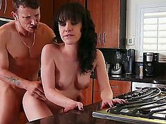 Katie St. Ives gets slam fucked in the kitchen