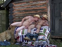 Johnny and Jason surely have a thing for outdoors. They are two married men, who have never had sex with women. But when they were alone, away from each other, they could not stop themselves from sucking dick. Not just that, watch these two hotties kiss each other and fuck in the ass. They are surely having a good time without their wives.