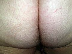 she stands up & lets me rub her sexy hairy ass