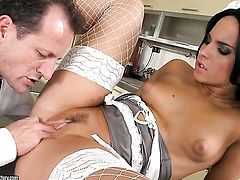 Teen Bettina Dicapri lets man put his cock in her pussy
