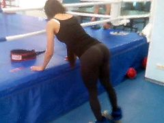 Yoga pants in gym