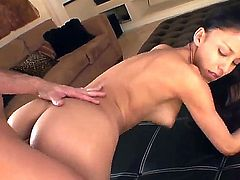 Alexis Love is one skinny dark haired sexy hottie with small firm ass and natural tits. She gets her tight thole fucked balls deep from behind.  Alexis Love loves getting hardcored!