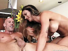 Nadia Styles takes sex to the whole new level as she does it with horny fuck buddy Johnny Sins