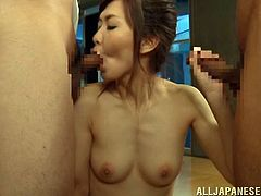 Toy fucked and finger banged Japanese vagina is soaked for cock