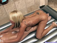 If you thought lesbians were hot, then don't miss out on this video of Rebeca, having a massage by the hands of sexy Briana. The hot blonde loves to move her hands on Rebeca's big breasts. You can see how well she does it. She is not afraid to experiment, that's why she shows how to massage a clit with her tongue. These girls will give you a throbbing dick.