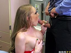 The beautiful Shawna Lanee fucks her doctor at his ordination