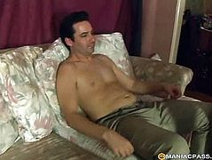 Pulls his mouth sex toy