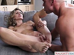 Natasha Starr is on the way to the height of pleasure with Johnny Castles boner fucking her hole