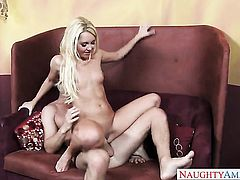 Seth Gamble explores the depth of amazingly hot Aaliyah Loves wet honeypot with his pole