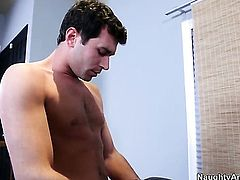 Eva Angelina gets a pussy pounding in sex action with James Deen