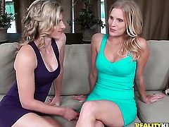 Blonde Brianna Ray and lesbian Cory Chase are horny for each other