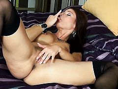 Melisa Mendiny proves that her body is amazing as she masturbates naked
