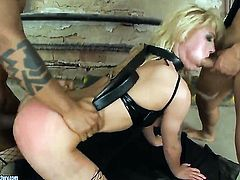 Blonde Anita Hengher gets her mouth stretched by dudes sturdy schlong