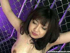 Young asian slut bdsm threesome