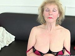 British grannies Pearl and Sandie got a massive secret and it all reveals here as they are still horny as hell and would love to be alone to get naked and finger their aged pussy.