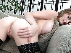 Faye Reagan cant live a day without playing with herself