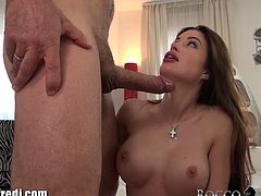 Newbie April Blue fucked by Rocco Siffredi
