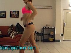This truly awesome Czech redhead teen chick who made me horny with her amazing lapdance show. I had to play with my dick as I am watching her moves her sexy body and one by one taking off her clothes