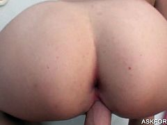 Auburn tattooed slut gets pussy fucked from behind on a boat