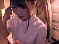 Sensuous Japanese Nurse Yui Hatano Gives the eating And the Titjob