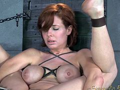 Saucy red haired MILF Veronica Avluv gets bound and fucked hard