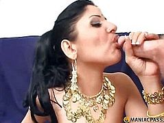 In her soaked gap shoves his pecker