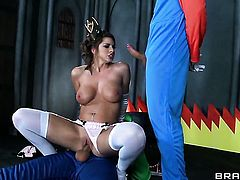 Brooklyn Chase makes a dirty dream of never-ending fucking with hard dicked guy Toni Ribas a reality