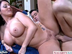 Naughty America brings you a hell of a free porn video where you can see how the busty brunette Sophie Dee gets banged very hard into a massively intense orgasm.