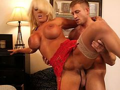 Naughty America brings you a hell of a free porn video where you can see how the busty blonde milf Alura Jenson rides a hard rod of meat into a massively intense orgasm.